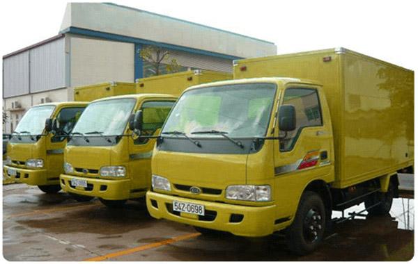 Hệ thống xe vận tải hiện đại của công ty Kiến Vàng