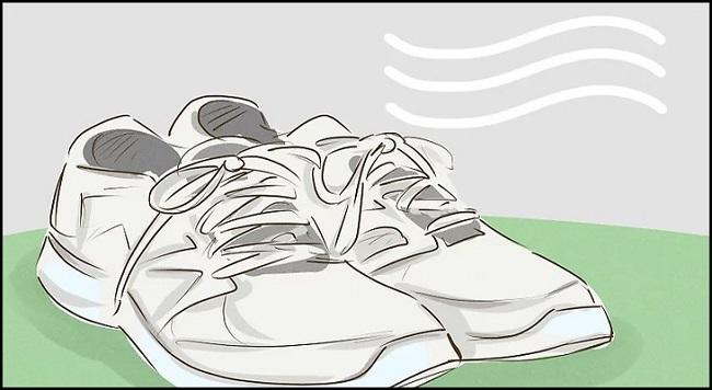 Phơi khô giày