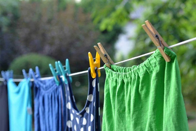 Phơi ngay sau khi giặt xong