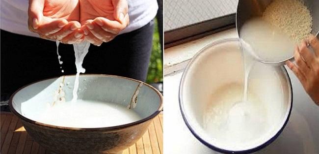 Ngâm trong nước gạo