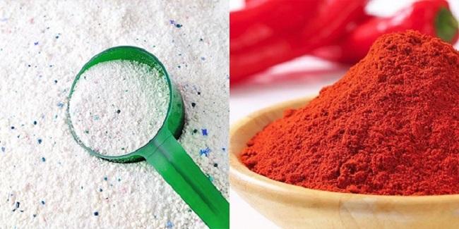 Đuổi ruồi bằng bột giặt và bột ớt