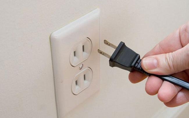 Ngắt nguồn điện của các thiết bị điện