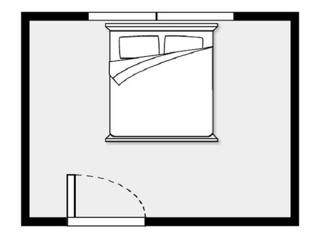 Giường đặt dưới cửa sổ là vị trí xấu nhất trong phong thủy phòng ngủ.